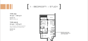 Leedon-Green-1-bedroom-+-study-AS2-floor-plan-Singapore