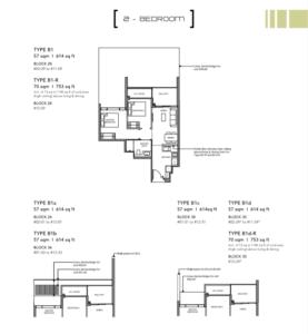 Leedon-Green-2-bedroom-B1-floor-plan-Singapore