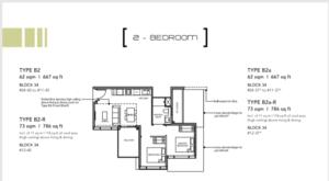 Leedon-Green-2-bedroom-B2-floor-plan-Singapore