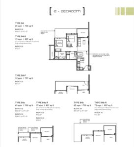 Leedon-Green-2-bedroom-B4-floor-plan-Singapore