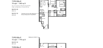 Leedon-Green-2-bedroom-B5b-B5c-floor-plan-Singapore