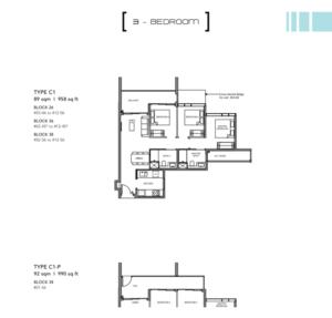 Leedon-Green-3-bedroom-C1-floor-plan-Singapore