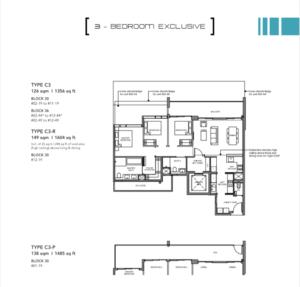 Leedon-Green-3-bedroom-exclusive-C3-floor-plan-Singapore