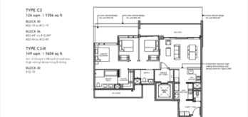 Leedon-Green-3-bedroom-exclusive-C3-floor-plan-Singapore