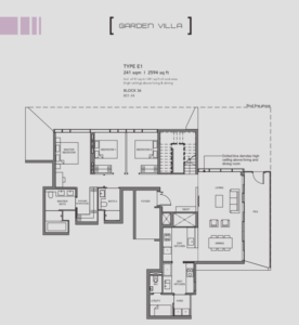 Leedon-Green-Garden-villa-E1-floor-plan-Singapore